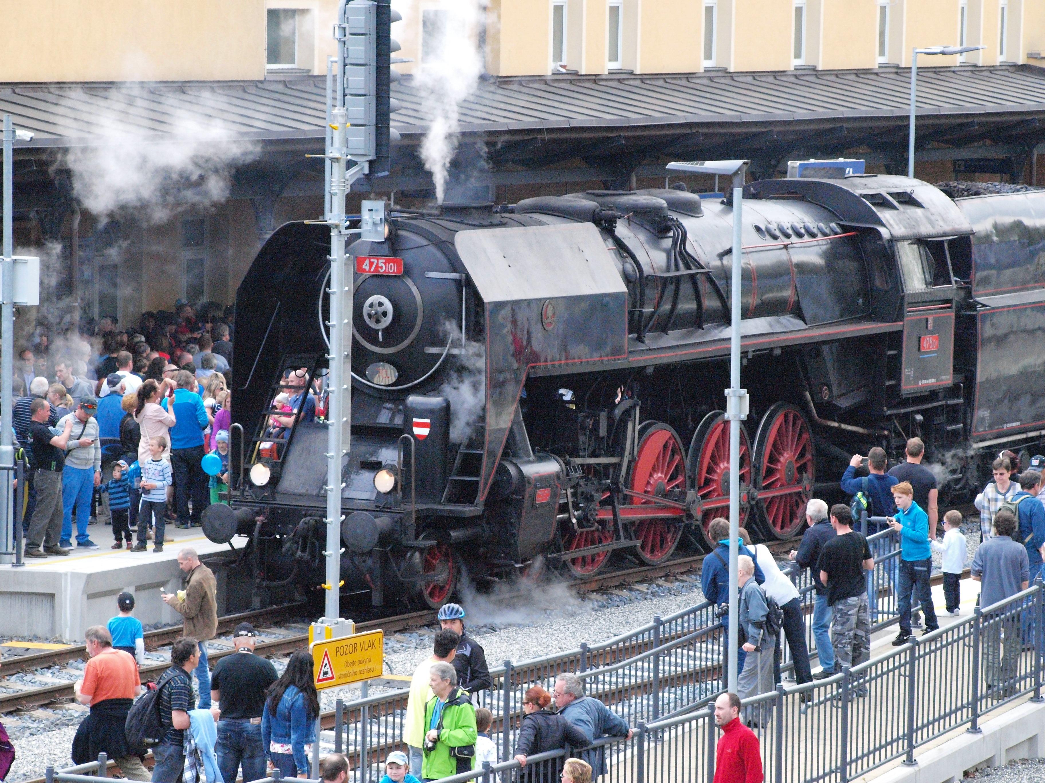 Příjezd historického vlaku do Jeseníku