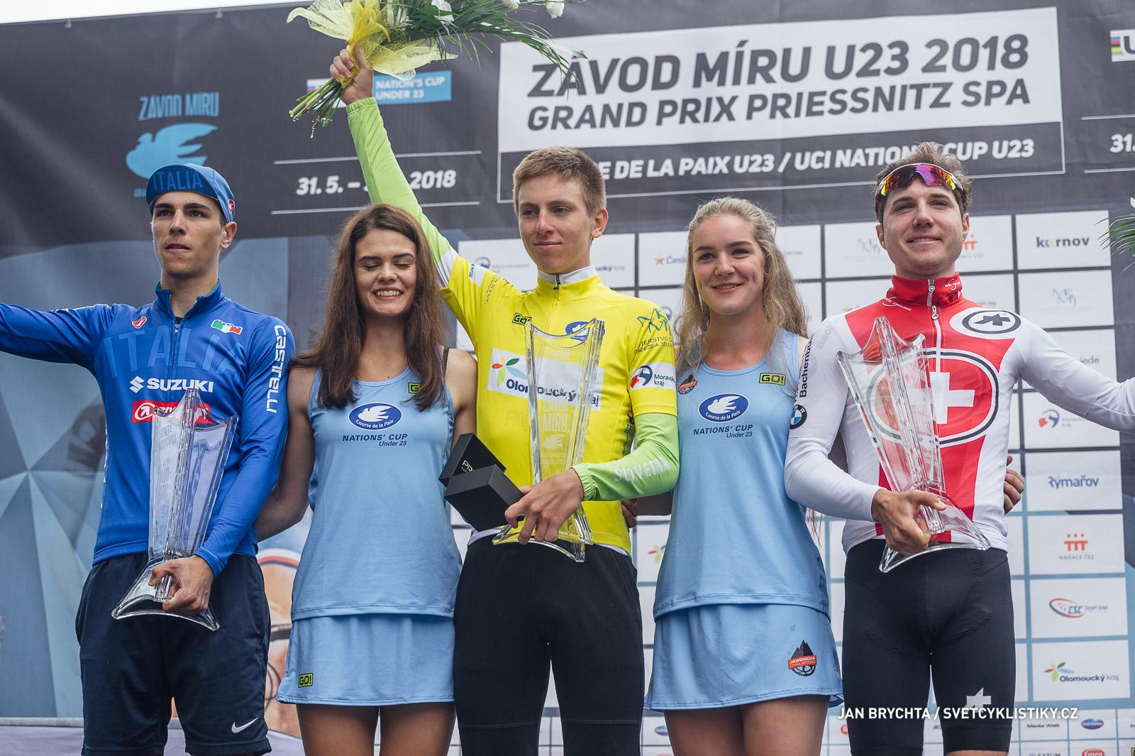Slovinec Pogačar vyhrál závěrečnou etapu i celý Závod míru U23