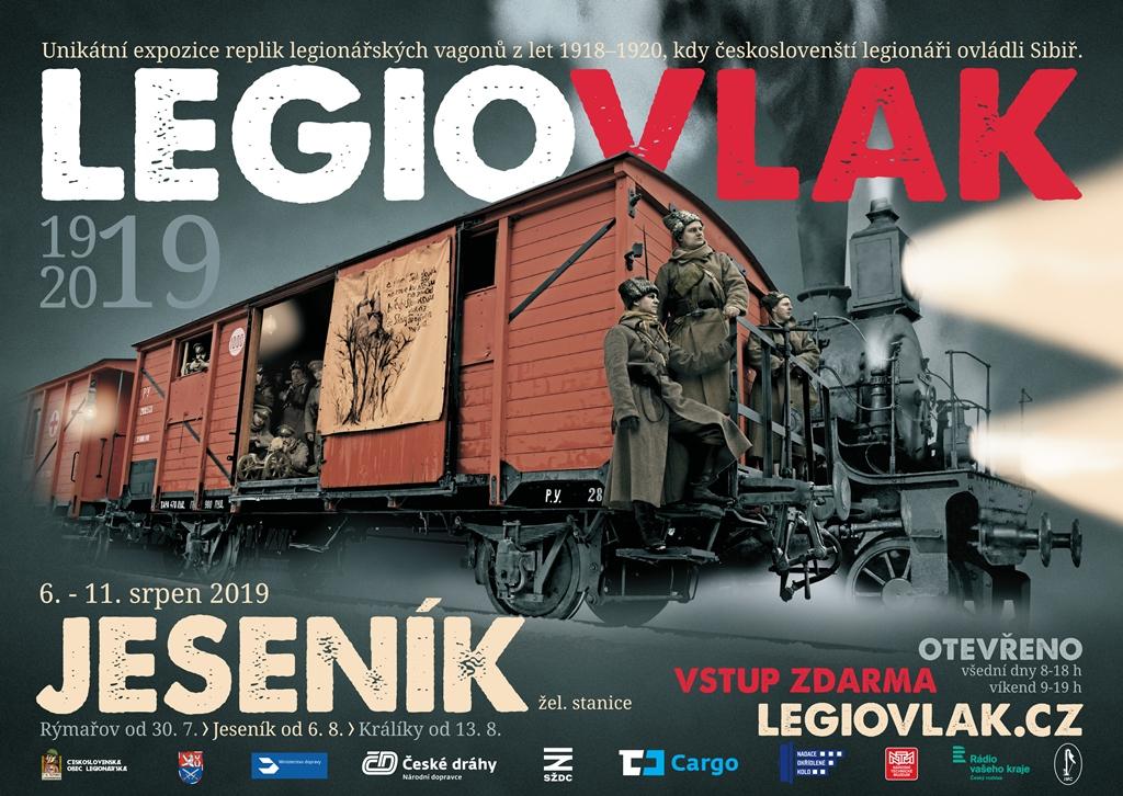 Legiovlak přijede do Jeseníku 6. srpna