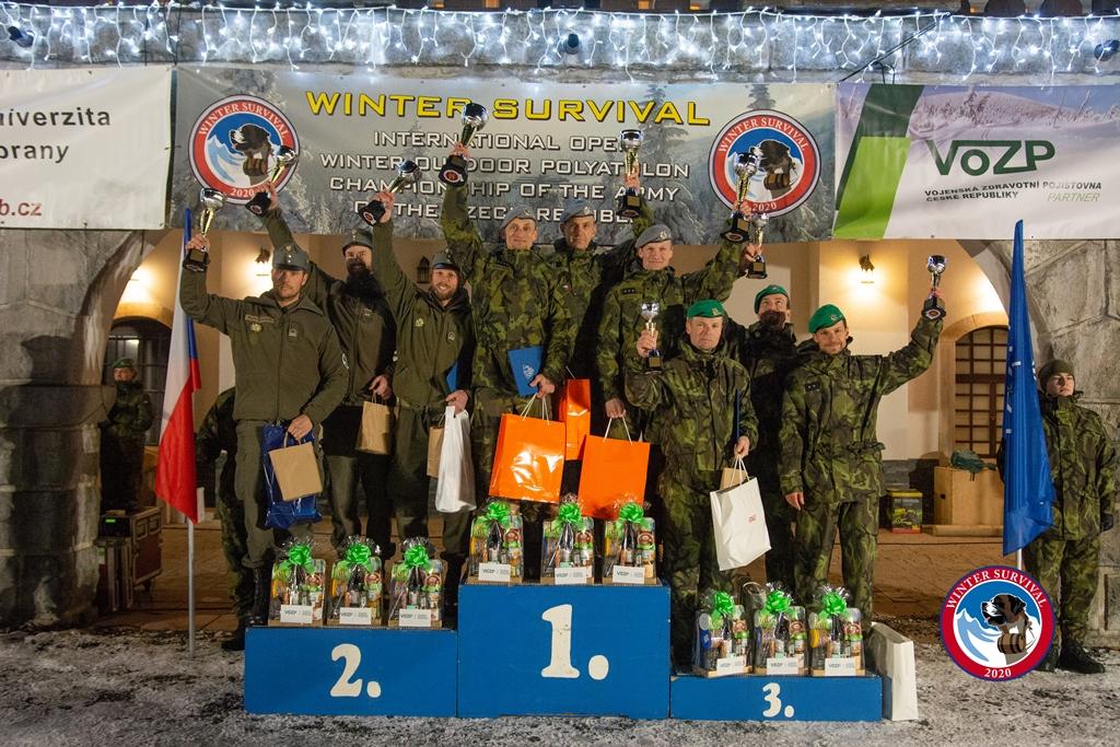 Winter Survival 2020: Zvítězili vojáci zAgentury logistiky ve Staré Boleslavi
