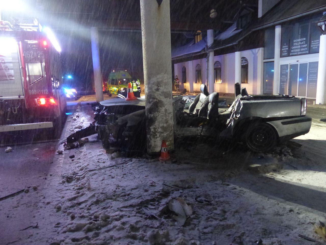 Tragická nehoda polského řidiče u Zlatých Hor